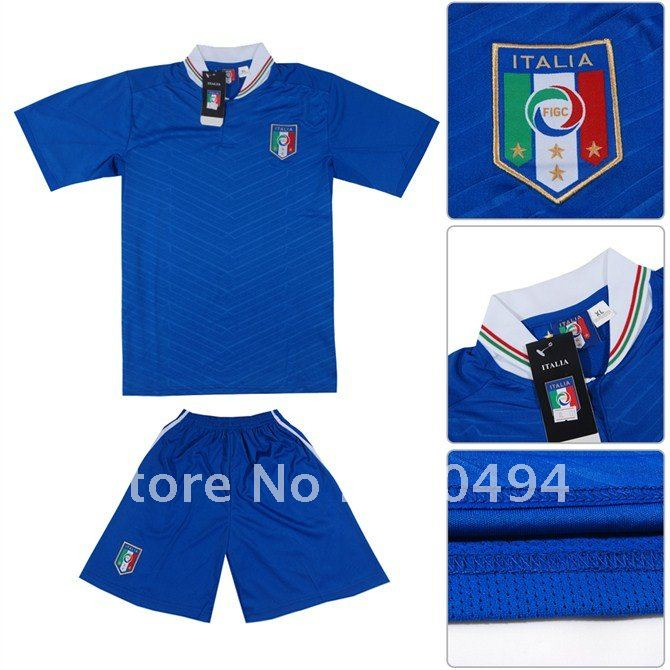 184440741eb free shipping 2012 European Cup Italy home team football jersey with pants