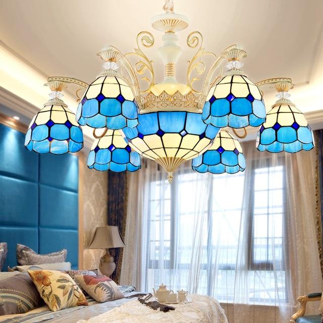 Art deco kronleuchter Tiffany Dekorative Farbigen Glaskronleuchter ...