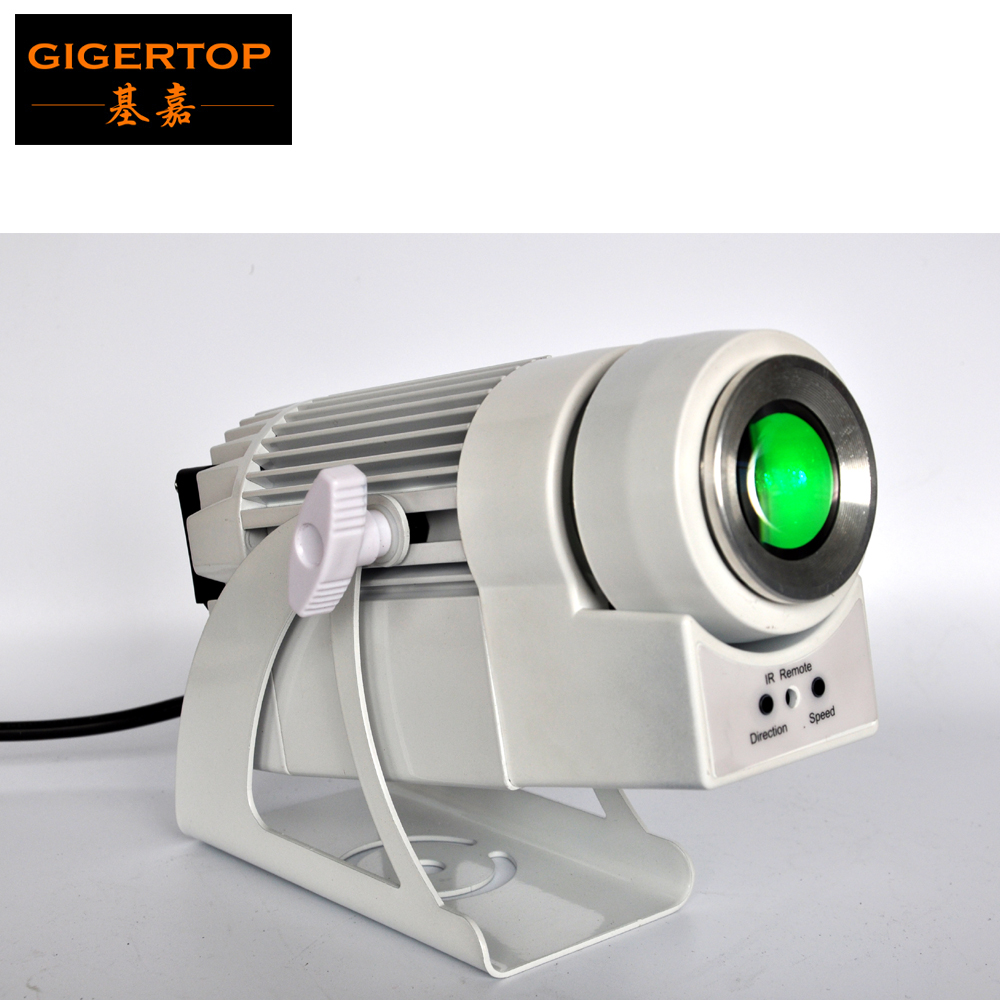 Gigertop TP-E27 60W RGBW 4IN1/White Color LED Gobo Projection Party Effect Light Rotate Speed Adjustable Customized Glass Gobo
