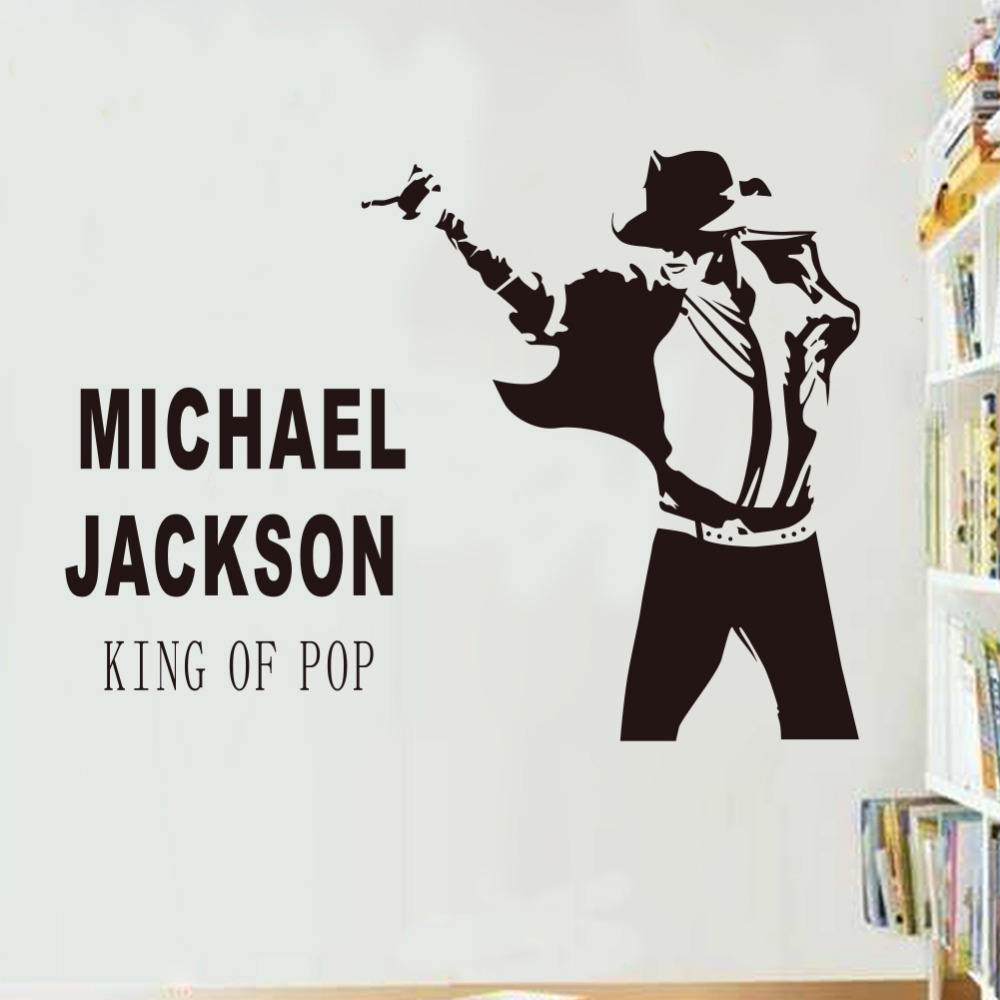 Dancing Michael Jackson Wall Stickers Removable Vinyl Decor Decals Art Poster Diy Home T096 In From Garden On