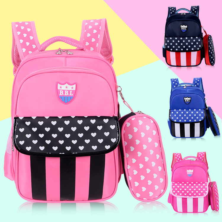 Kindergarten Primary School Backpack 2018 New Cartoon Kids Schildrens School Bag With Pe ...