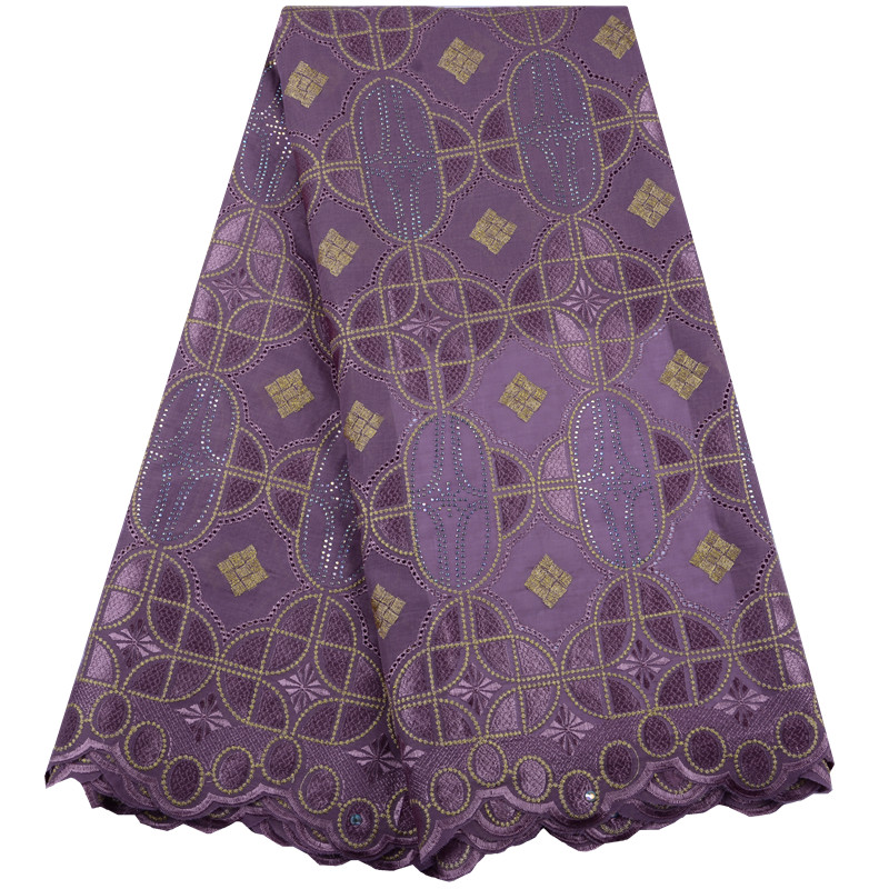 2019 High Quality Swiss Voile Lace In Switzerland Wholesale Lilac Color African Cotton Dry Lace Fabric
