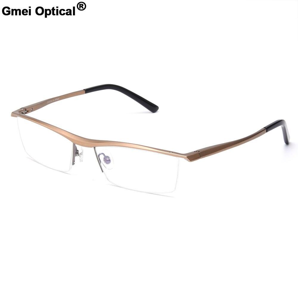 Gmei Optical Brand Designer Men Glasses Frames Aluminium Magnesium-Alloy Frame Spectacle Eyeglasses Myopia Glasses GF1060