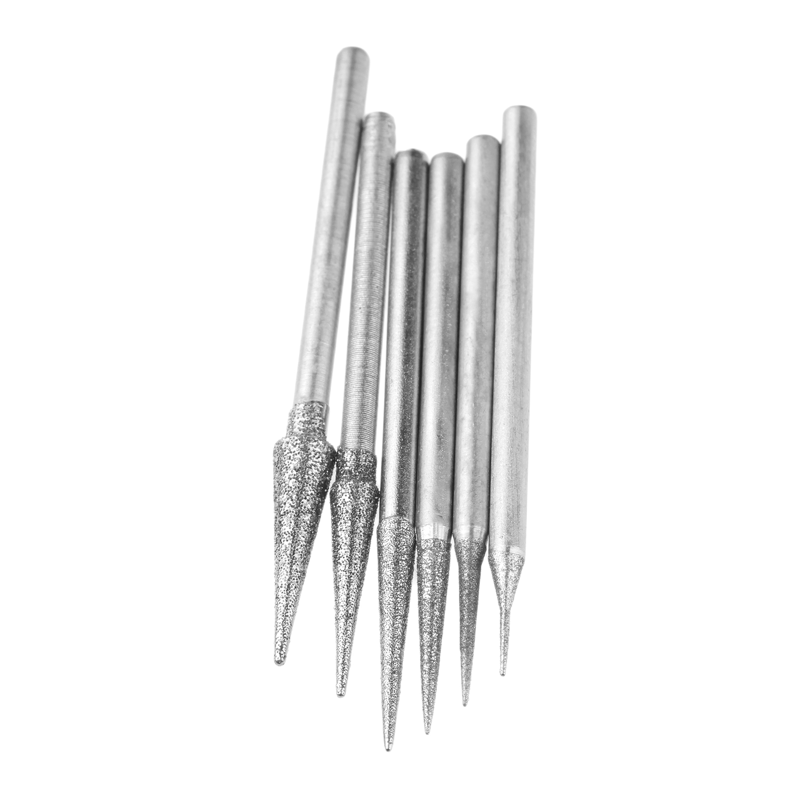 Image 3 - DRELD 6Pcs 1 4mm Diamond Grinding Head Grinding Needle Bits Burrs Metal Stone Jade Engraving Carving Tools 2.35mm Shank D Needle-in Abrasive Tools from Tools