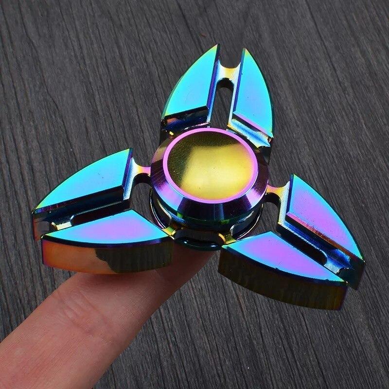 New Blazing Colour Focus Crab Feet Fidget Spinner Metal Hand Spinner Torqbar Colorful Finger Spinning Toy