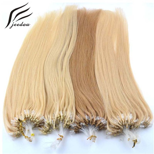 jeedou Straight Synthetic Micro Ring Loop Hair Extension 20inch 50g Pack  Real Loop Hair Extensions 14 Colors Women s False Hair 6dec414537