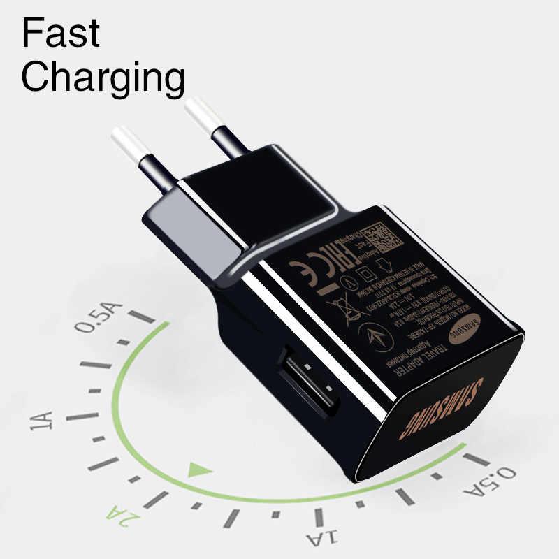 سامسونج S9 S8 زائد USB الجدار شاحن نوع C كابل السفر سريع الأصلي محول سريع تهمة 1.2 متر شحن نوت 9 8 7 C 5 7 9 برو