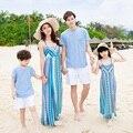 Family Clothing Summer Beach Dresses for Mummy Daughter Family Matching Dresses Women Beach Embroidered Dress Girl Dress FN19