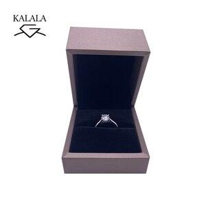 Image 3 - 925 sterling silver ring 1ct 2ct 3ct di Lusso gioielli Con Diamanti Moissanite anello Singola riga trapano Festa di Anniversario di Matrimonio Anello