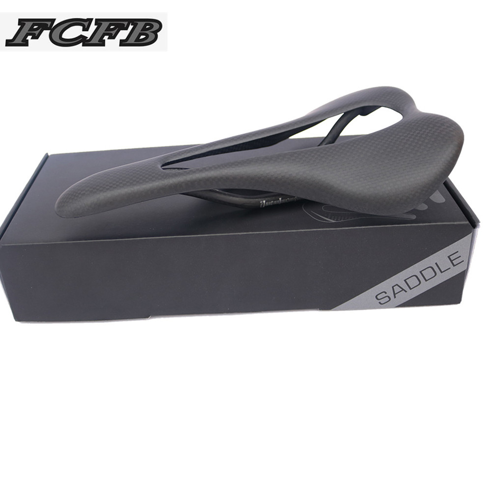 no logo glossy matt 3k carbon saddle road bike MTB big hole Breathable seat saddle cycling bicycles refreshing seat FCFB