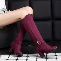 Winter Women Boots Female High Heels Boots Thick Heel Over knee Boots Elastic Boot Women Long Boots Small Size 32 Big Size 43 48