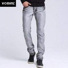 c4d8e1cacc Vomint marca Venta caliente clásico básico Delgado Mens Casual jeans hombres  lavado stretch denim calidad Fit Loose cintura para.