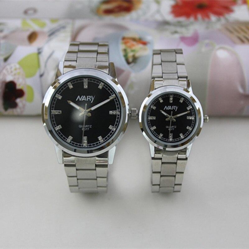 Nary Brand Silver Sainless Steel Men Women Wristwatch Waterproof Quartz Watch Couples Watches Relogio Masculino Feminino