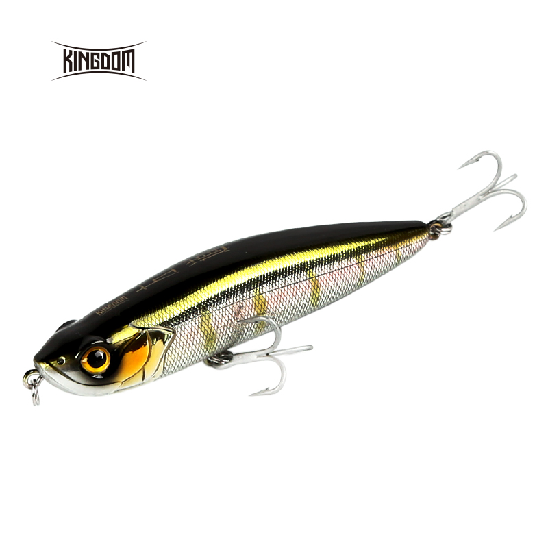 Kingdom Fishing Lure 100mm 20.5g/31.5g Floating And Sinking Pencil Wobblers Bait Long Casting DIY Color Option Model 7505