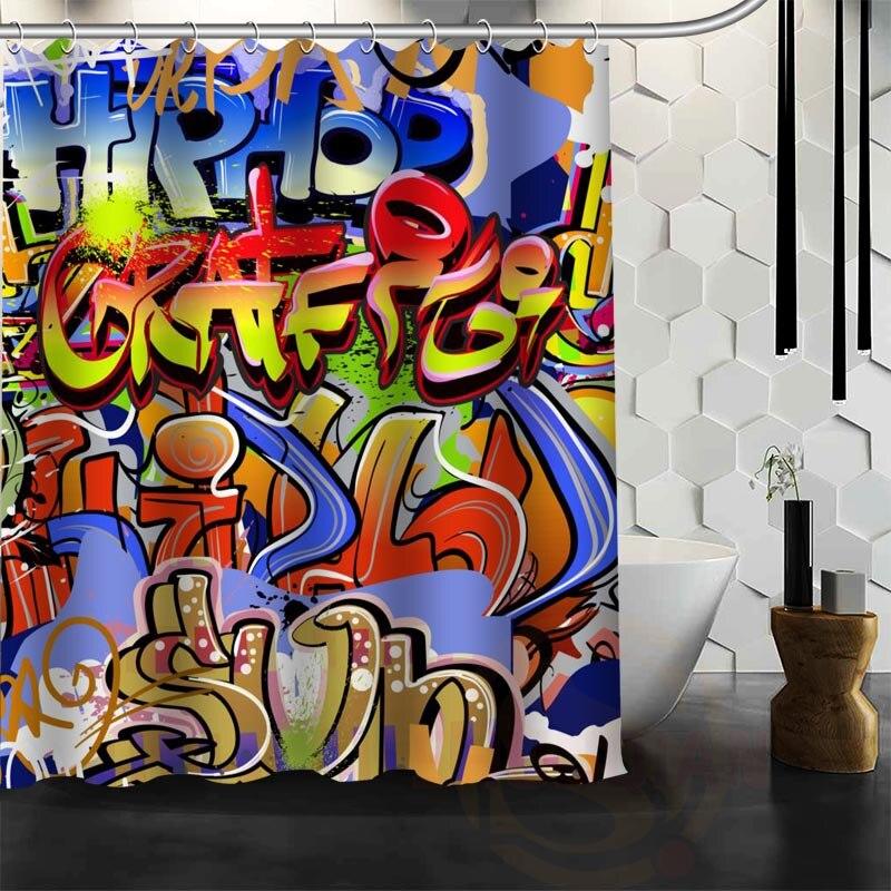 Graffiti Art Wallpapers Group 71: Best Nice Custom Graffiti Art Shower Curtain Bath Curtain