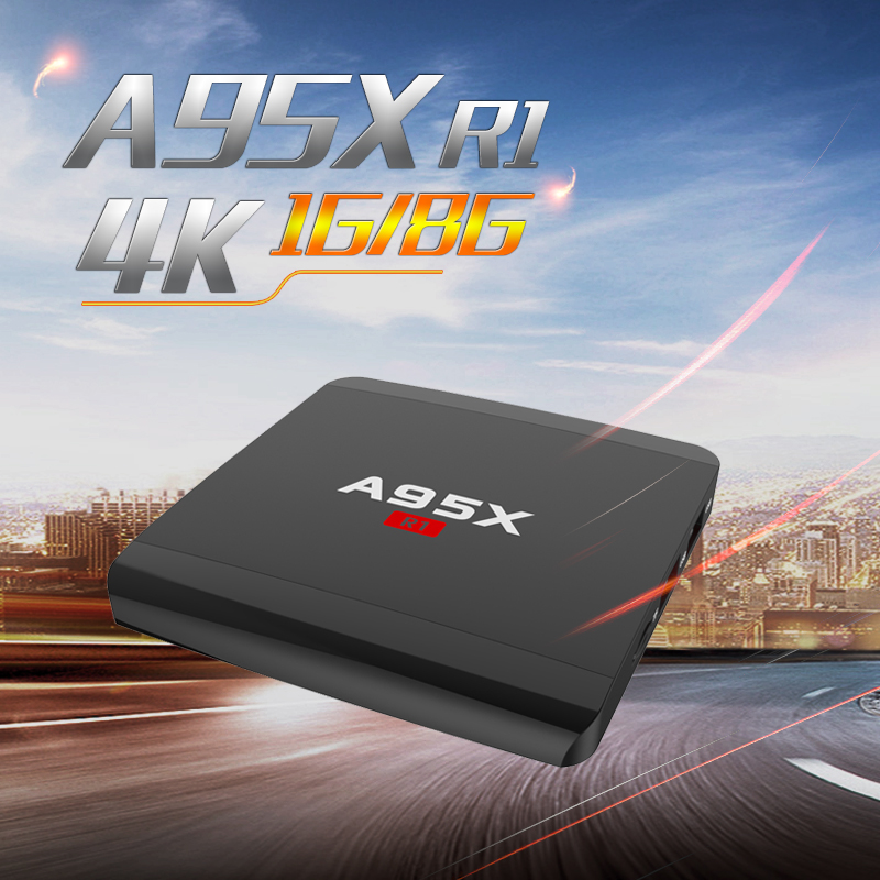 A95X R1 Android 7.1 Amlogic S905W 4K Smart TV Box KODI HDMI Set-Top Box WiFi H.265 1G/8G 2G/16G Quad Core PK X96 mini