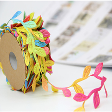 10M 1roll Wedding Birthday Party DIY Decorations Colorful Rattan artificial Leaves Garland Decorative Accessories Gift Wrapping