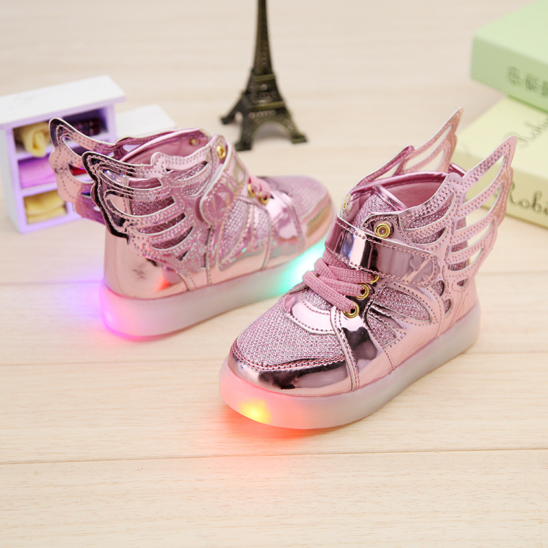 2017-New-Children-shoes-with-light-child-glowing-sneakers-led-kids-Lighted-Shoes-toddler-Boy-LED-Flashing-girls-shoes-wings-5