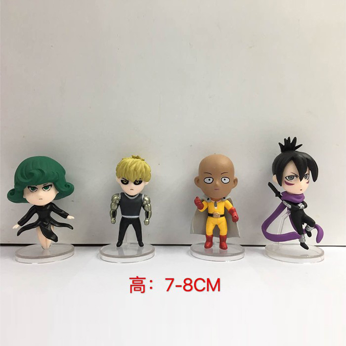 One Punch Man 4pcs/set Tatsumaki Action Figures 1/12 scale