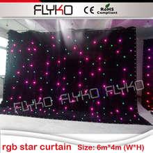 decorations wedding 4x6nM rgb led star cloth backdrop