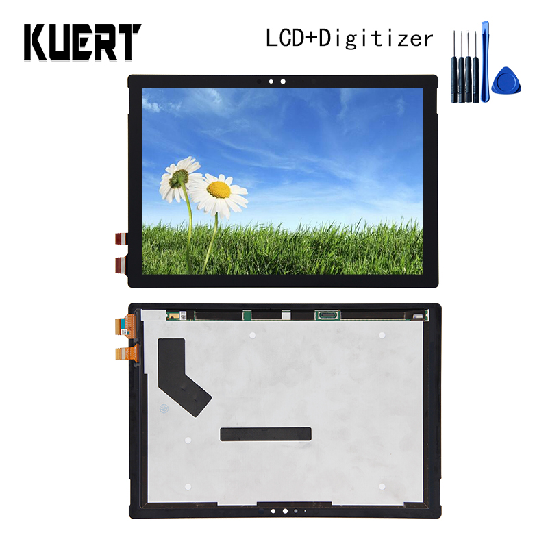 Panel LCD Combo Touch Screen Digitizer Glass LCD Display Assembly For Microsoft Surface Pro4 1724 Accessories Parts Free Tools black color free tempered glass lcd display touch screen digitizer home button front camera assembly for iphone 6s 4 7 inch