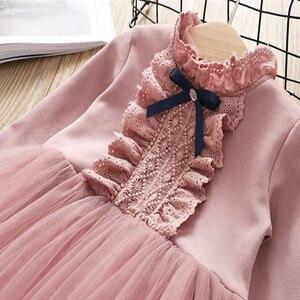 Image 3 - Fanfiluca Bé Cô Gái Ăn Mặc Ren Công Chúa Cô Gái Bên Đầm Dài Tay Áo Kids Dresses for Girls Trẻ Em Quần Áo