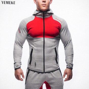 216b62231b YEMEKE 2018 hombres Sudadera con capucha de algodón diseño de marca nuevos  hombres invierno Hip cremallera casual escudo sólido para hombre de la  chaqueta ...