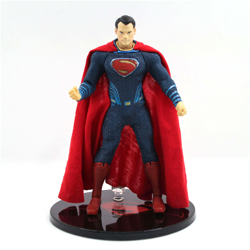 MEZCO Batman v Superman Dawn of Justice Superman 1/12 Scale PVC Action Figure Collectible Model Toy (real clothes) 17cm shf figuarts superman in justice ver pvc action figure collectible model toy
