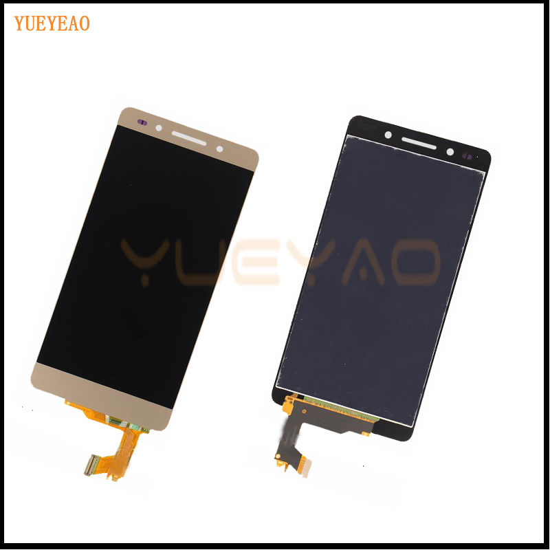 Подробнее о 100% Original For Huawei Honor 7 Full LCD Display Monitor Panel + Gold Touch Screen Digitizer Glass Sensor Lens Assembly lcd display touch screen digitizer assembly for huawei honor 7 plk al10 tl01h cl00 panel front outer glass lens black white gold