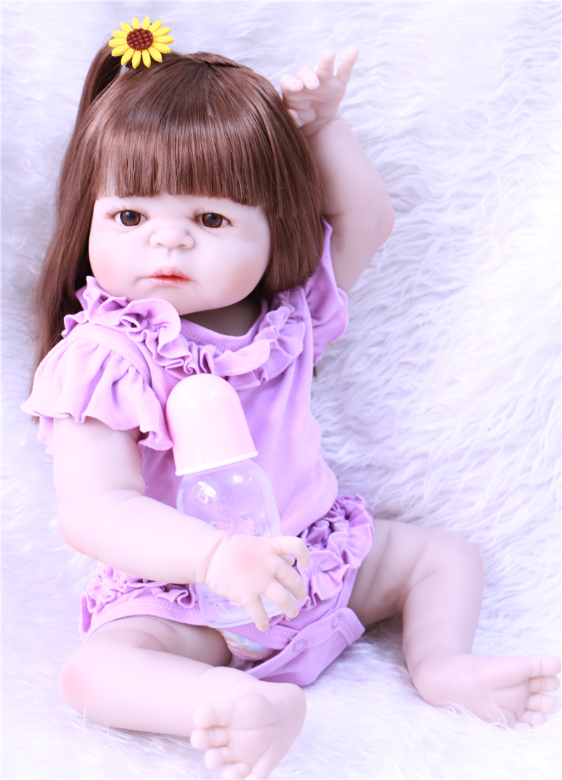 55CM SOFT Silicone Reborn Baby Dolls Handmade girl Body Reborn Babies Doll Toys Play House Baby Growth Partners Brinquedo partners lp cd