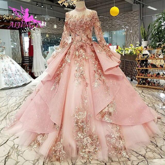 AIJINGYU חתונה שמלה שחור שמלות בתוספת גודל הכלה אינדונזיה Custom בדובאי שמלת שתי חתיכות זול כלה שמלות