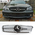 Alta qualidade ABS Cromado Grade Dianteira W203 C230 C240 Front Bumper Grill Para Benz W203 C230 C280 C240 01-06