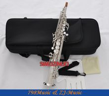 Professional Silver Plated Eb Sopranino saxophone sax low Bb to high E With Case