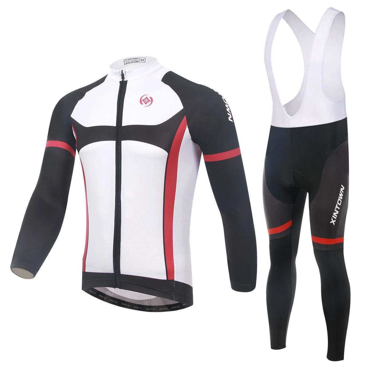 XINTOWN Knight Bike Riding Jersey Wear Long Sleeve Suit Cycling Suits Fleece Wind Warm Function underwear