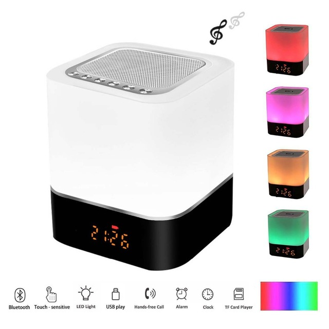 29754891a0d FM Radio Alarm Clock Wireless Bluetooth Speaker LED Digital Electronic  Table Watch Wake Up Light Nixie Night Clock For Children