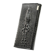 2016 New Women 3D Crocodile Grain Long Wallet Ladies Elegant Purse Card Holder Coin Bags