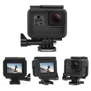 SHOOT CNC Aluminum Alloy Protective Cage Case Set for GoPro Hero 7 6 5 Black Cage for Go Pro Hero 7 6 5 Action Camera Accessory