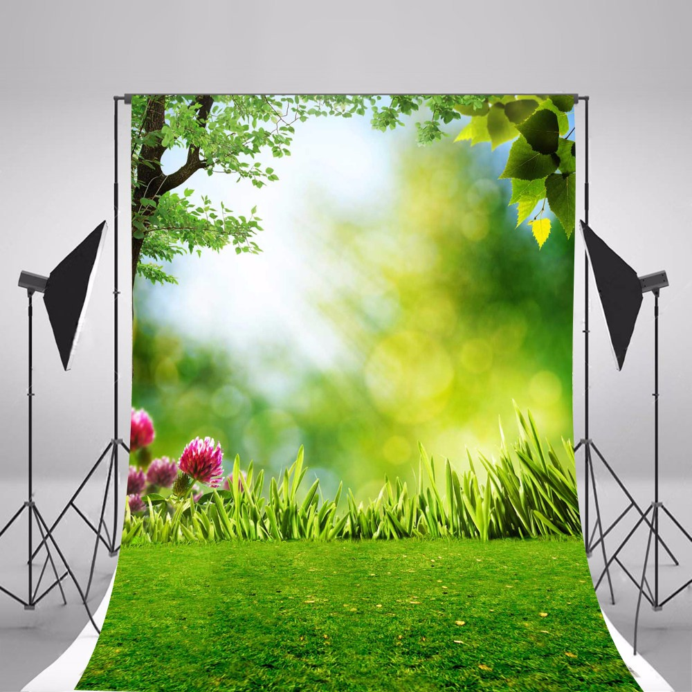 2017 Children Photographic Backgrounds Spring Scenic Photo Backdrops Thin Vinyl Backgrounds For Photo Studio Fundo Fotografia