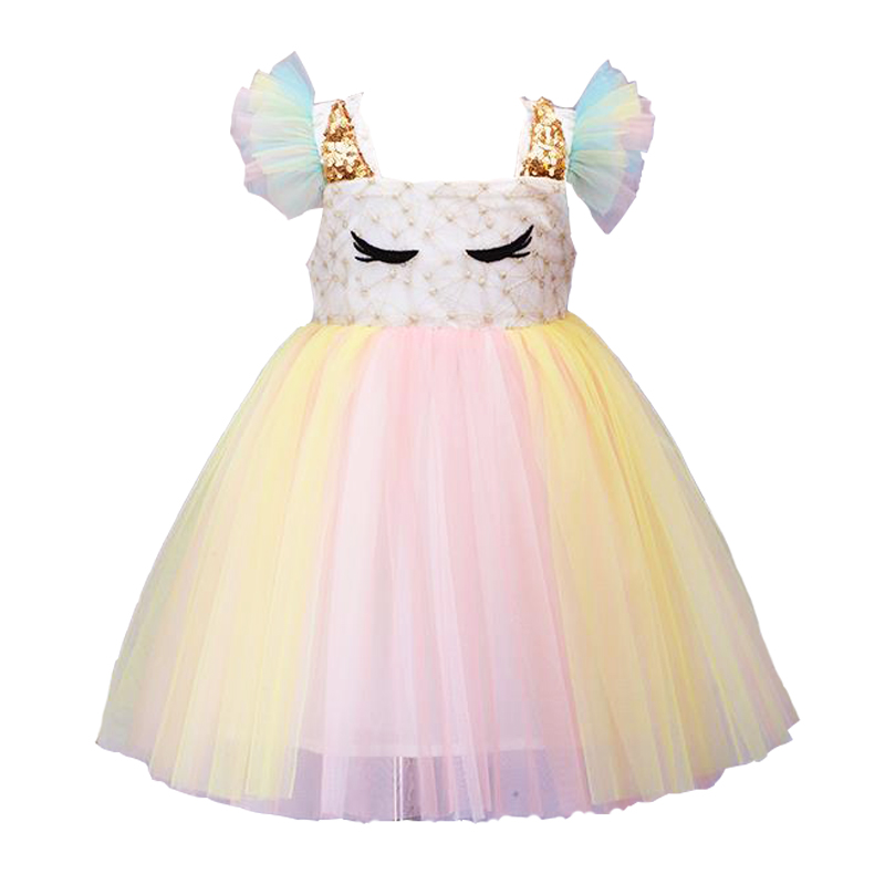 2019 animal cartoon cute Formal   Flower     Girl     Dresses   for Wedding Princess   Girl   Pageant First Communion   Dress
