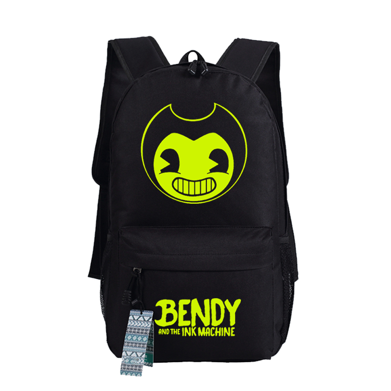 Bendy and Ink Machine Cosplay Backpack Anime Oxford Schoolbags Fashion Unisex Travel Laptop Bag Gift 45x32x13cm