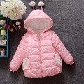 Meninas do bebê Roupas, Crianças Inverno manga longa Quente Jacke & Outwear, Meninas bonitos do Algodão-acolchoado Do Bebê Outwear Casaco para meninas 2-7 anos