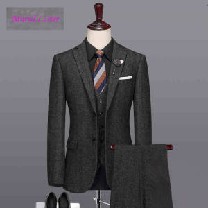Muriel Lester Formal Wedding Tuxedo 3 Piece Men Suits