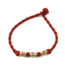 Chinese Style Hand Chain Lucky Bead Red String Charm Women Good Luck Bracelets Bangle(China)