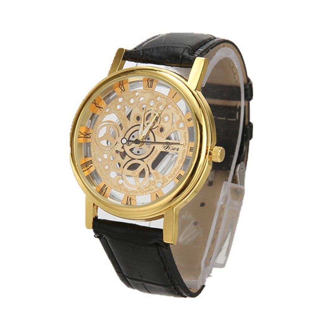 Hommes montres haut marque de luxe en acier inoxydable décontracté or Quartz analogique Date montre-bracelet de haute qualité pour livraison directe S7 16