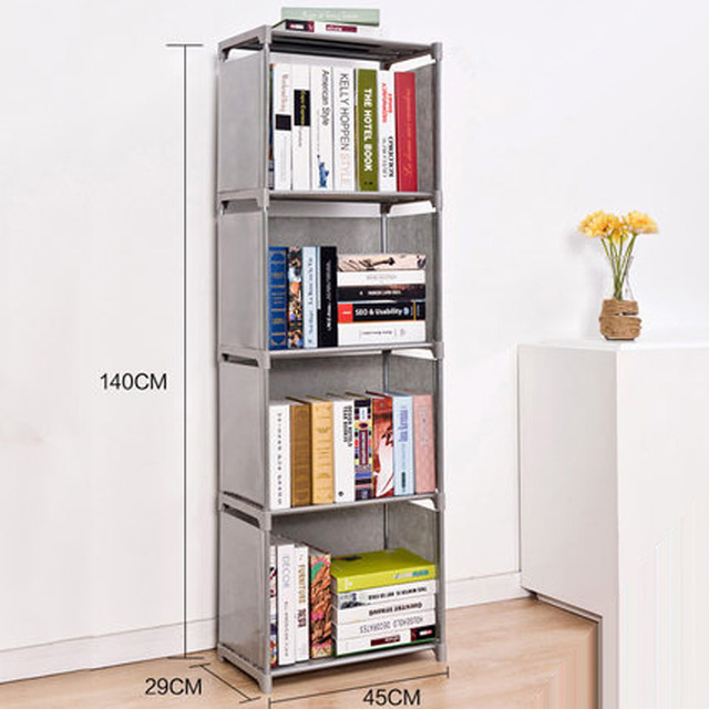Delightful 2016 New Creative DIY 3 Layers Bookcase Portfolio Brief Modern Bookshelf  Shelf Whatnot Cabinet Thickening Freeshipping