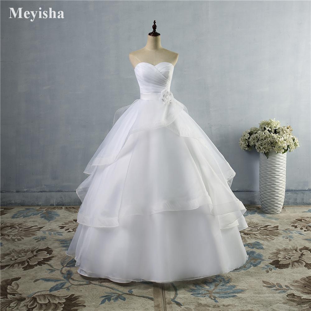 ZJ20 20 High Quality White Ivory Wedding Dresses Lace up Back ...