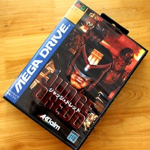 Dudge Dredd 16 Bit MD Game Card with Retail Box for Sega MegaDrive & Genesis Video Game console system