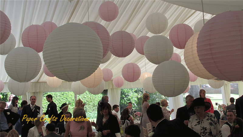 10inch 25cm Chinese/Japanese Round Paper Lamps Rice Lanterns Hanging ...