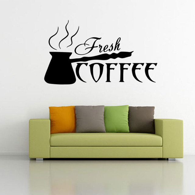 Adesivi da muro per la camera dei bambini decorazioni Caffè adesivi ...