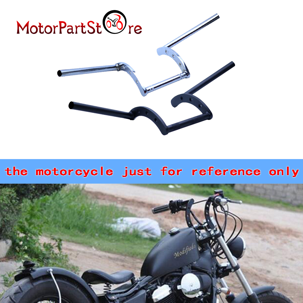 Motorcycle 7/8 22MM Drag Handlebars Z Bars For Yamaha VStar 400 650 1100 1300 Virago Xv 250 535 750 1100 Road Star Custom @10 bars брюки 7 8
